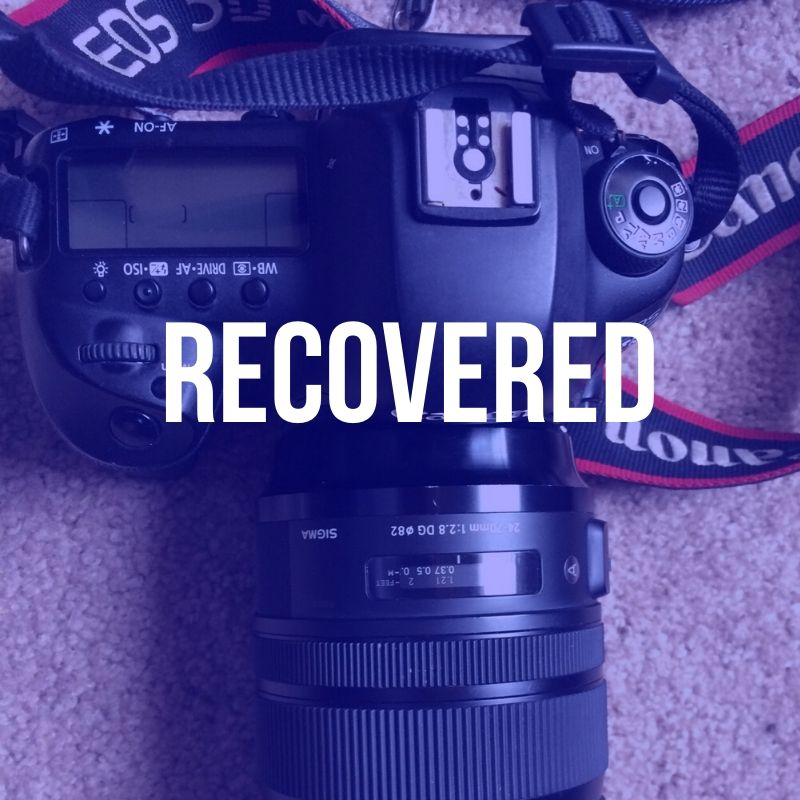 HUGE REWARD – Stolen Canon 5D Mark IV / Sigma Art 24-70mm lens / Lacie 2TB drive in a Green WANDRD backpack