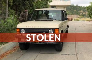 My '94 Land Rover Range Rover Classic LWB was Stolen