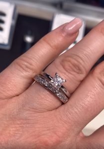 My 1ct princess cut solitaire Diamond engagement ring was lost/stolen